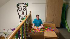The ball pit moved to our place for Funhouse Fri.day